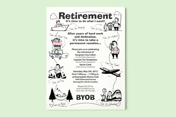 funny retirement party flyer
