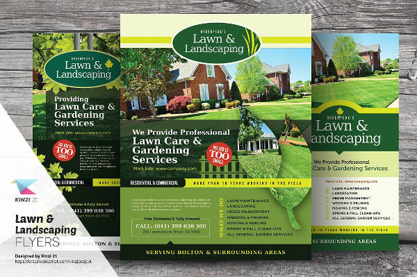 garden landscaping flyer