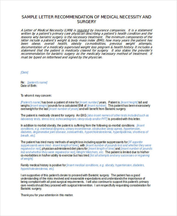 General Surgery Recommendation Letter Sample  Sample Letter Of Recommendation
