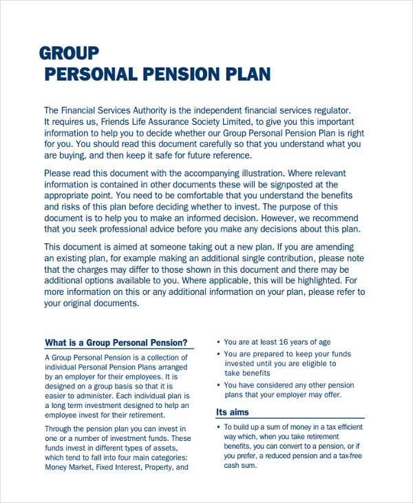 group personal pension plan
