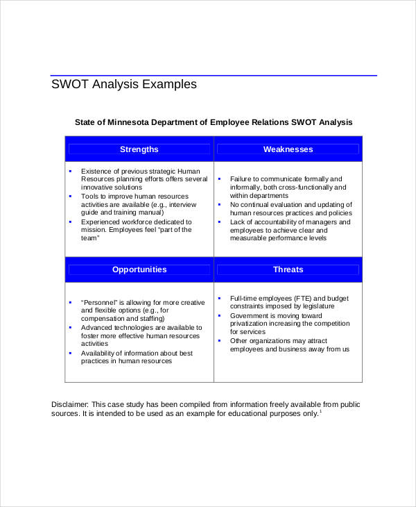 hr team swot analysis
