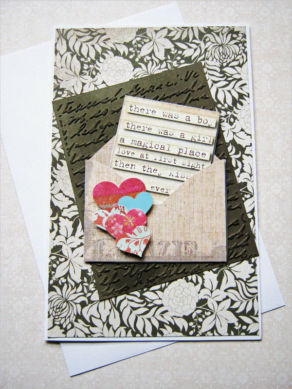 handmade love greeting card
