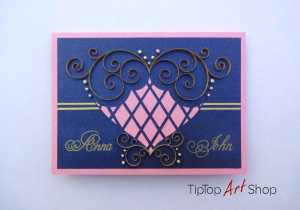 handmade personalized wedding card