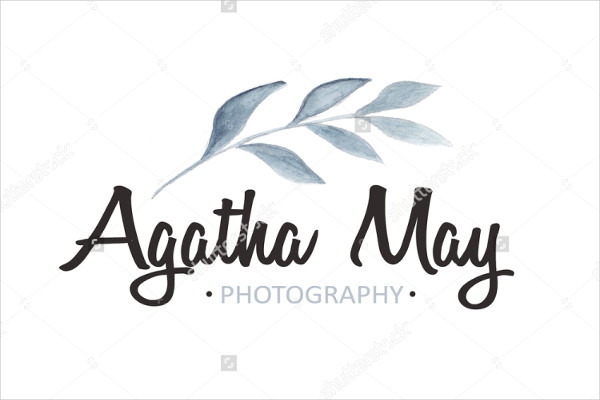 -Handmade Watercolor Photography Logo