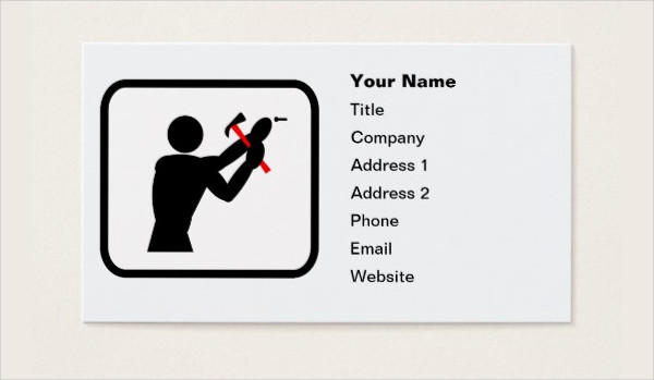 Handyman Business Card Logo