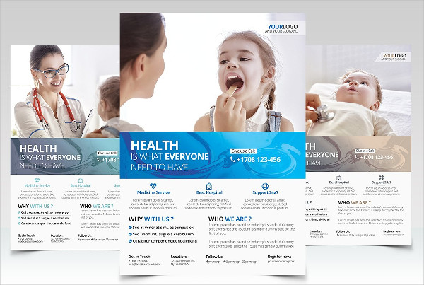 health business psd flyer