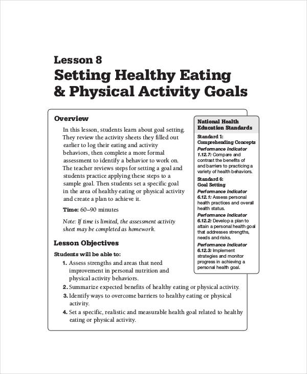 health related smart goals