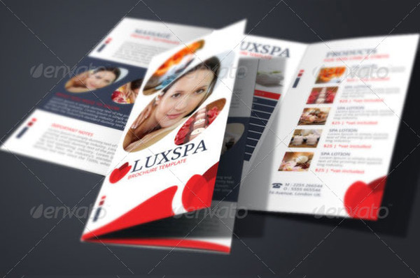 health spa brochure