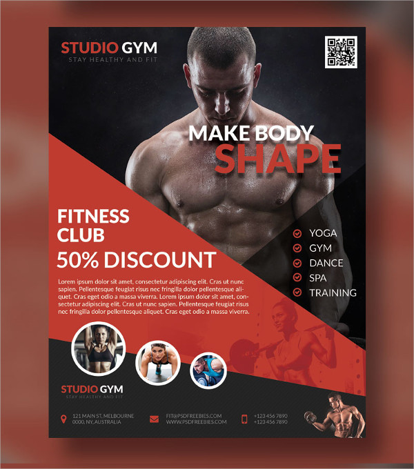 Healthy Fitness Flyer PSD