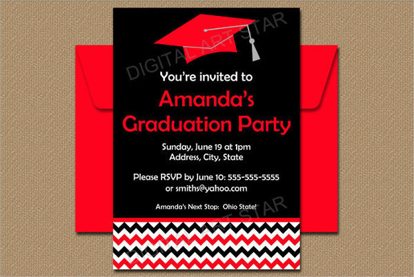 high school graduation party invitation