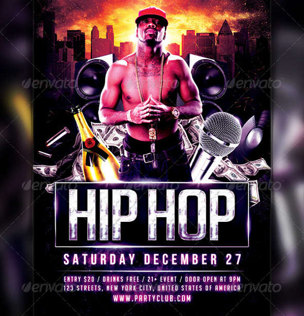 hip hop club party flyer1