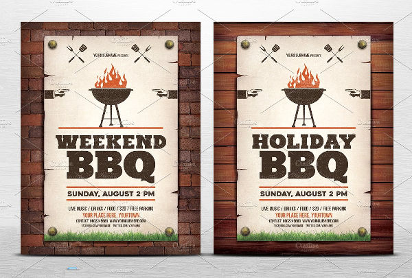 holiday bbq invitation flyer