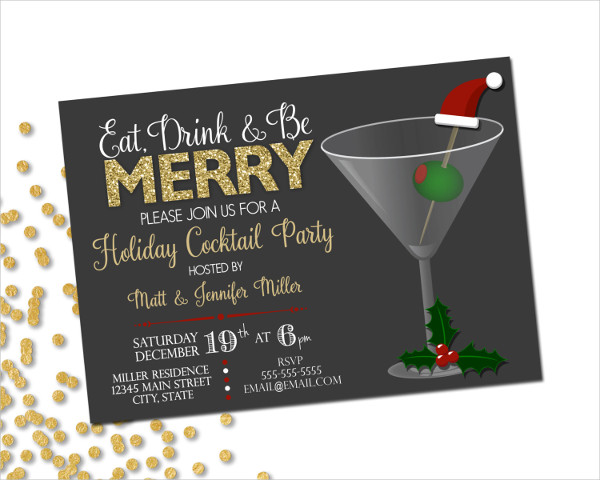 holiday cocktail party invitation