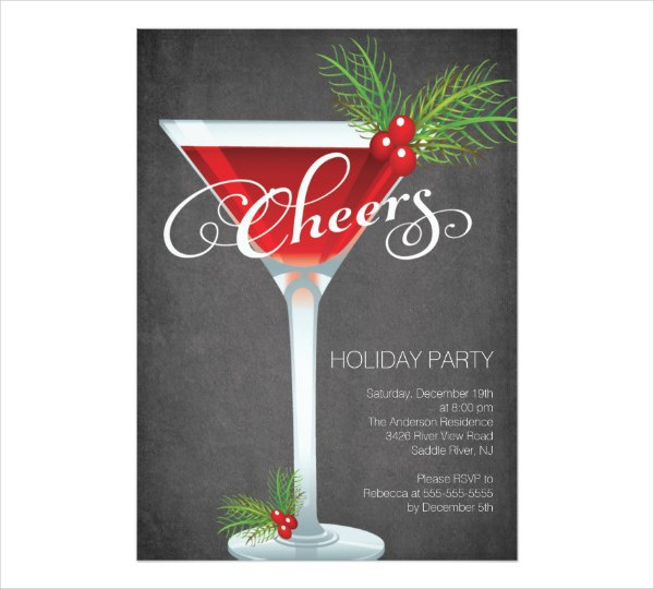 holiday cocktail party invitation1