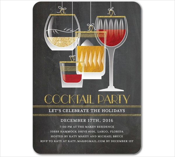 holiday cocktail party invitation2