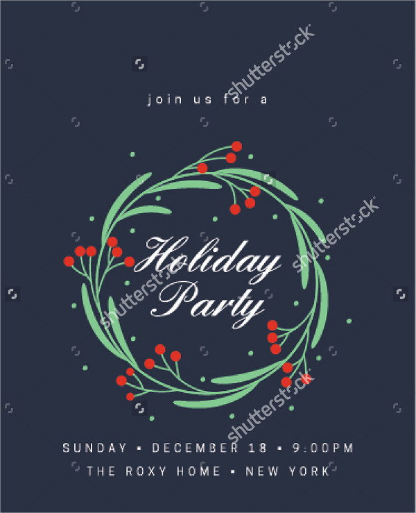 holiday office party invitation