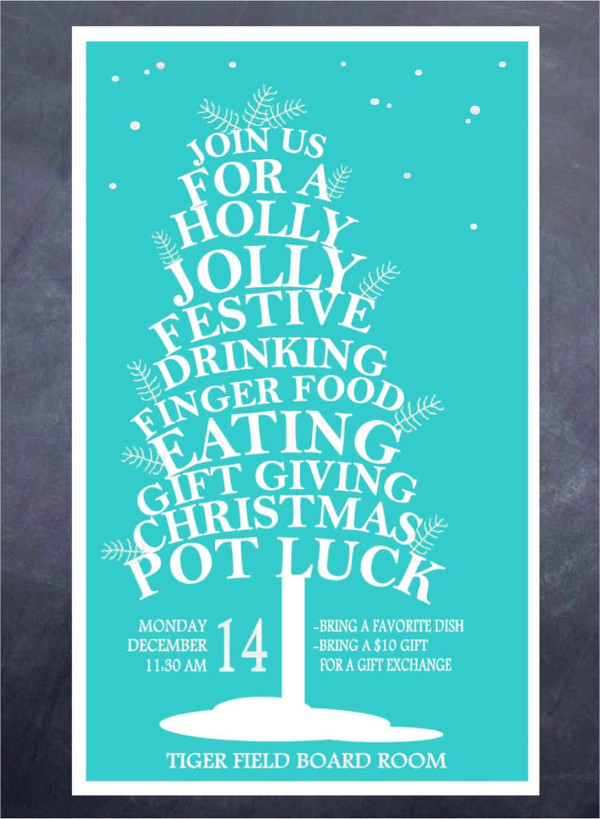 holiday party potluck invitation