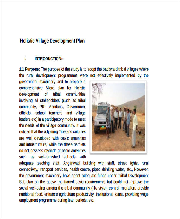holistic village development plan