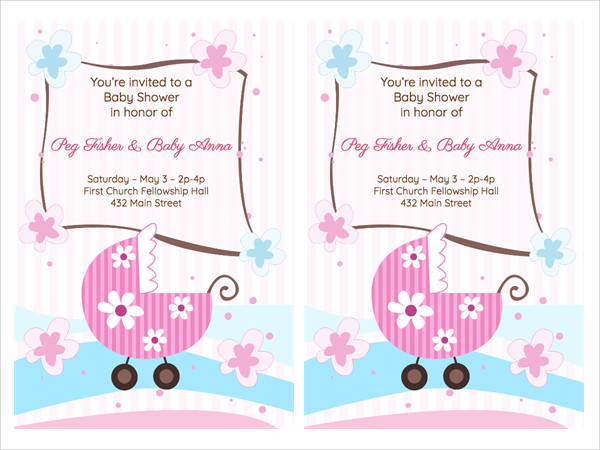 homemade girl baby shower invitation7