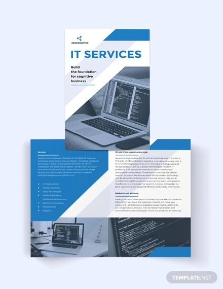 it business bi fold brochure template