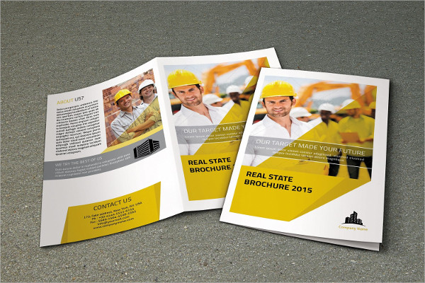 indesign real estate company brochure