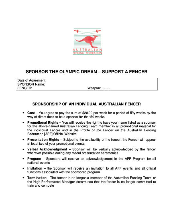 Individual Athlete Sponsorship Proposal Ausfencing.org. Details. File Format  How To Write A Sponsorship Proposal Sample