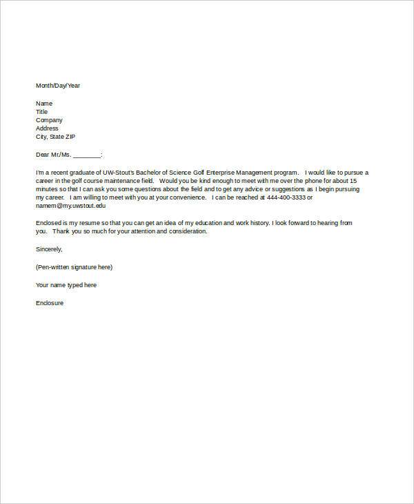 interview appointment request letter
