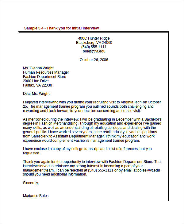 Formal letter interview thank you sample formal letter examples and formal letter examples and samples pdf doc spiritdancerdesigns Images