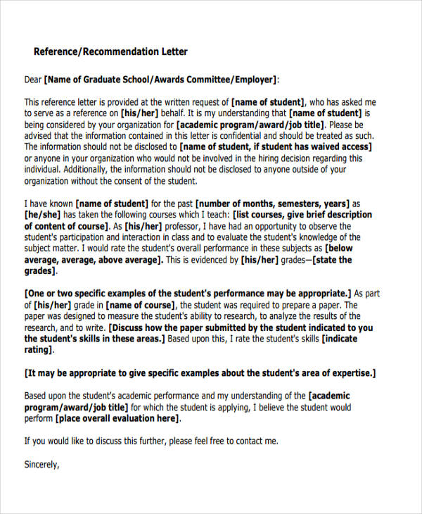 89  recommendation letter examples  u0026 samples