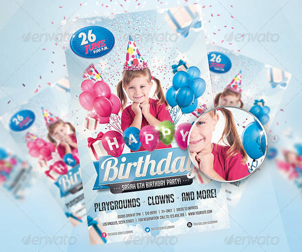 kids birthday party flyer1