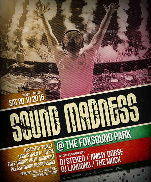-Live DJ Event Flyer