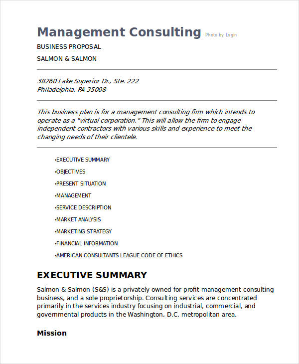 management consulting business proposal1