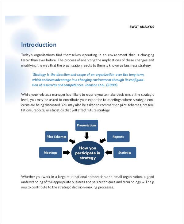 marketing management swot analysis