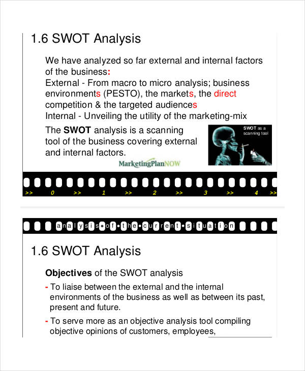marketing plan swot analysis