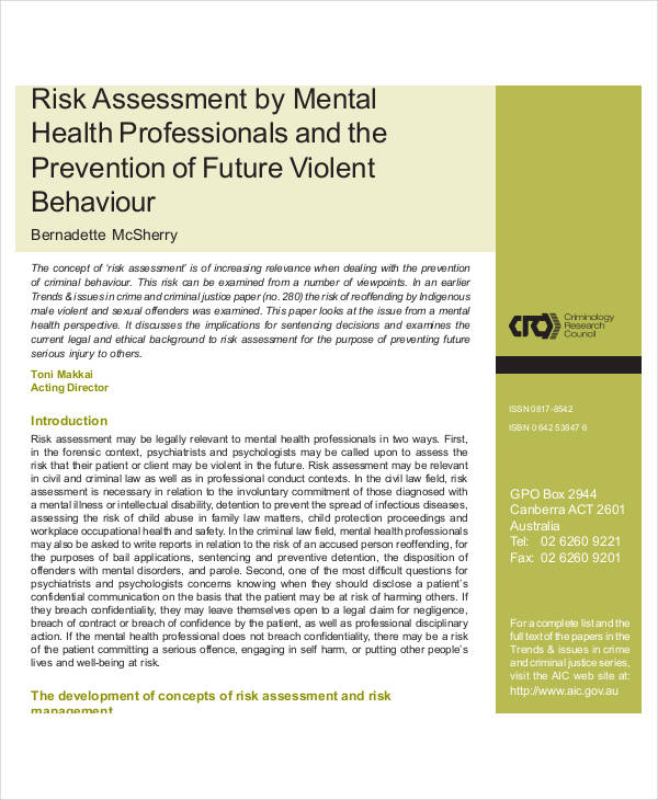 mental health risk assessment1
