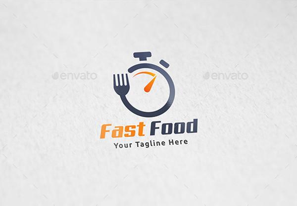 minimal fast food restaurant logo
