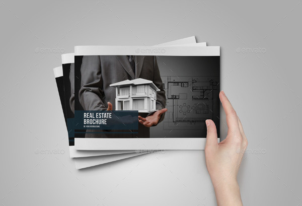 minimal modern real estate brochure