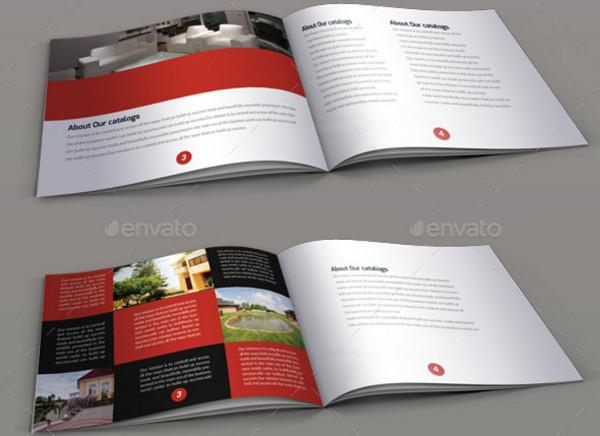 minimal real estate square brochure