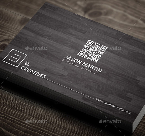minimal wooden business card