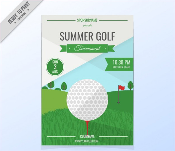 minimalist golf event poster
