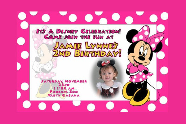 Birthday Invitation Designs Examples PSD AI Vector EPS - Minnie mouse birthday invitation message