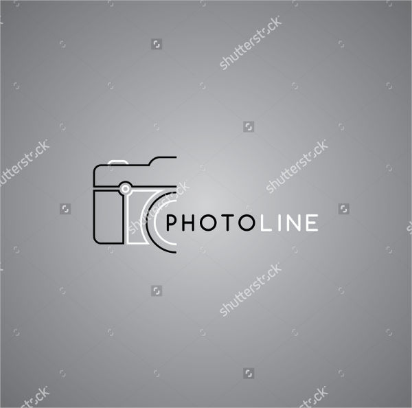 Modern Camera Photography Logo
