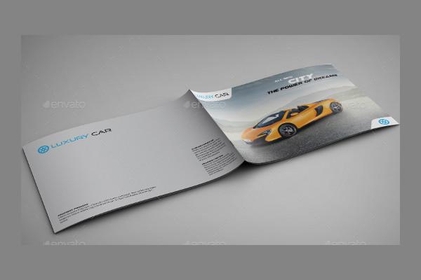 modern car brochure