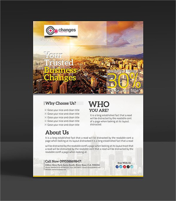 modern clean business flyer