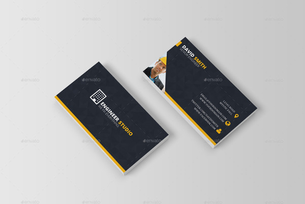 -Modern Construction Business Card