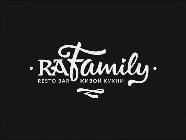 modern family restaurant logo