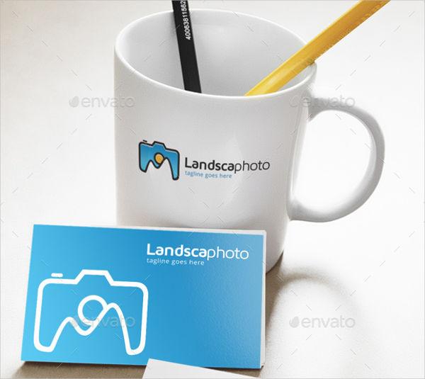 modern landscape photography logo