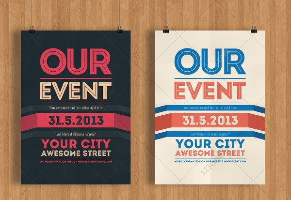 Good Modern Minimal Event Flyer  Event Flyer Examples