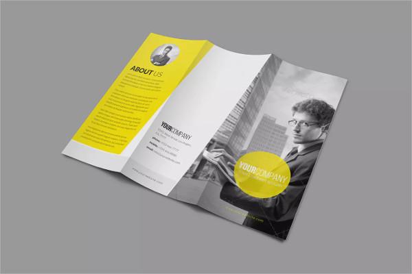 modern multipurpose tri fold brochure