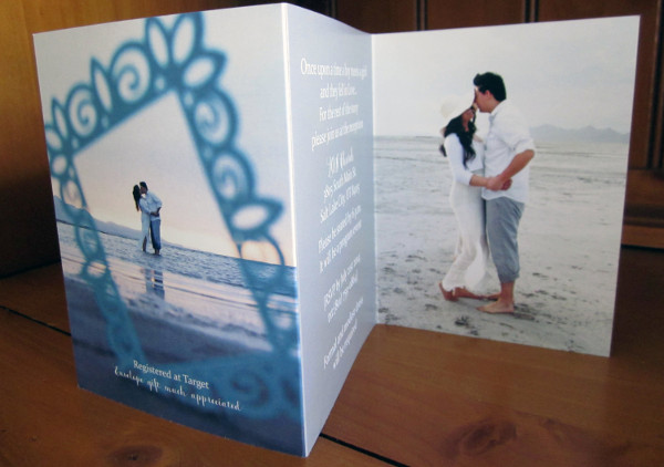 modern photo wedding invitation